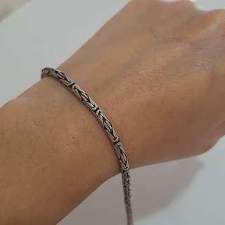 Silver 925 tribal bracelet and anklet set