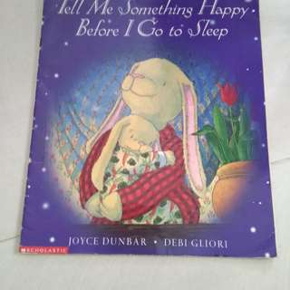 Tell me something happy before I go to sleep Scholastic book
