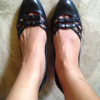 Enzo Black Office Shoes (6.5)