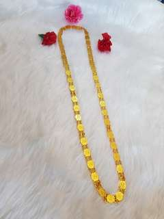 Coin Chain with Gold plating