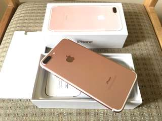 Iphone 7 Plus 32gb Factory Unlocked Rose Gold Complete Smooth