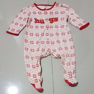 Sleepsuits hugs red,baby 12-18 months