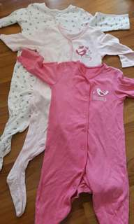 Mothercare Sleepsuits 9-12M