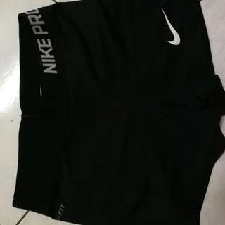 Nike Pro Gym Shorts in Black Colour Size M 70cm Waist