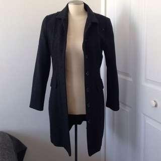Dark grey long coat