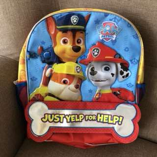 Brand New with Tag Authentic Paw Patrol School Bag Backpack Haversack