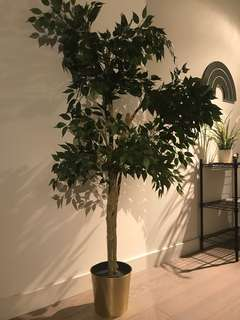 Like New Faux Tree and Pot