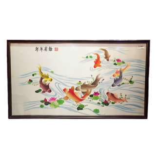 CLEARANCE SALE Fortune Koi Painting