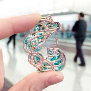 迪士尼茉莉公主耳環/耳夾