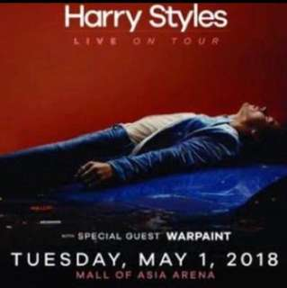HARRY STYLES LIVE IN MANILA PLATINUM TO LOWERBOX TICKET