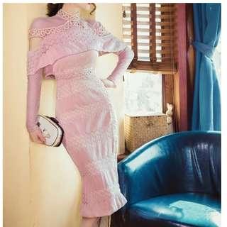 Ladies - Lacy Cape Dress L1755