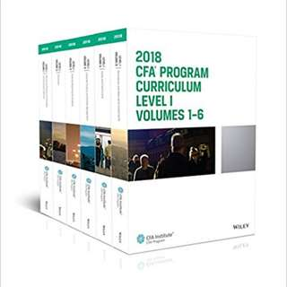 CFA Program Curriculum 2018 Level I (CFA Curriculum 2018) 1st Edition, Kindle Edition by CFA Institute (Author)