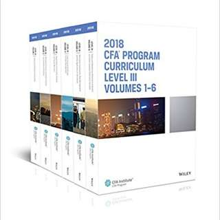 CFA Program Curriculum 2018 Level III (CFA Curriculum 2018) 1st Edition by CFA Institute (Author)
