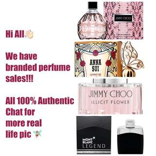 Authentic branded Perfumes Sales