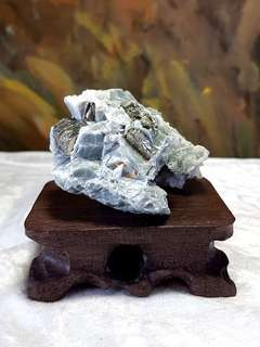 Raw Pyrite and Calcite cluster [Natural Crystal]