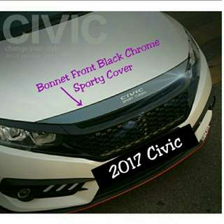 Honda Civic 2017 Model Front Bonnet Cover Add On