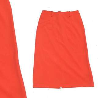 Repriced (Preloved) Rok Span Oren / Orange Skirt