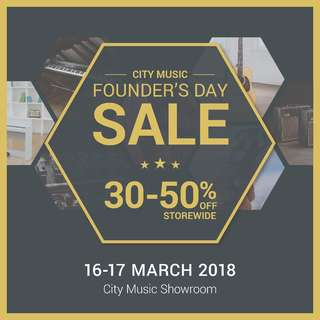 City Music Founder's Day Sale