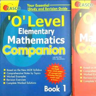 'O' Level Elementary Mathematics 1 & 2
