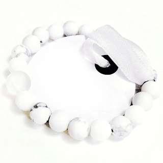 Howlite + Alibaster stone bracelet