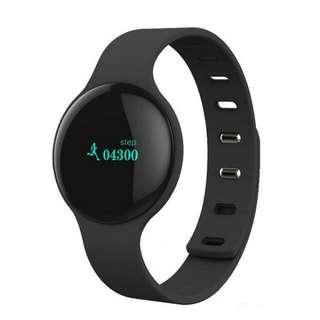 Bluetooth Fitness Tracker Pedometer Sports Smart Watch -BLACK