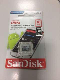 Original Sandisk Memory Card 16 gb