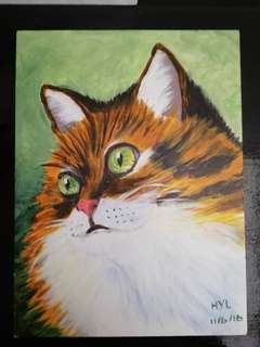 Cat Acrylic Painting 2