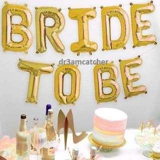 Bachelorette party foil balloons - Ready stock!