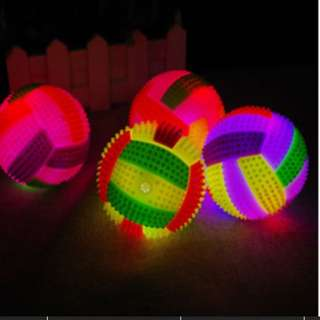 LED Volleyball Flashing Light Up Color Changing Bouncing Hedgehog Ball Dog Toy