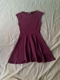 Topshop Maroon Skater Dress