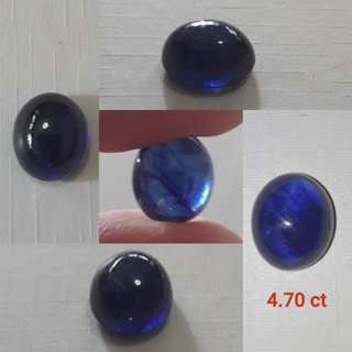 Very Nice Blue Sapphire cabochon. Glass filled treated. Good price.