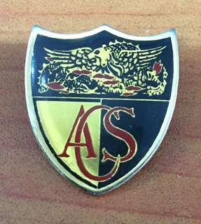 Vintage ACS School Badge