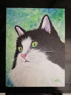 Cat Acrylic Painting 5