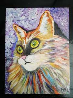 Cat Acrylic Painting 6