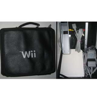 Wii bag with console full set