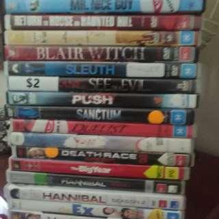 DVDs x 16