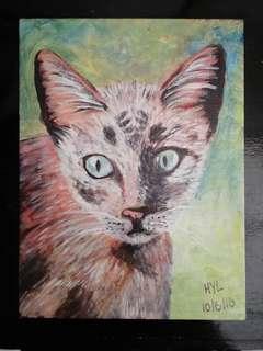 Cat Acrylic Painting 7