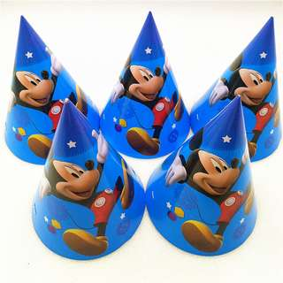 MICKEY MOUSE Party Hats (Pack of 10)