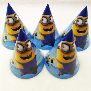 MINIONS Party Hats (Pack of 10)