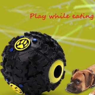 Giggle Ball Pet Dog Sound Training Chew Treat Holder Toy Food Dispenser
