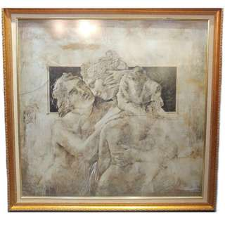 CLEARANCE SALE Framed Victorian Greek Painting Picture