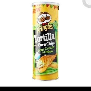Pringles Nacho Cheese and Sour Cream