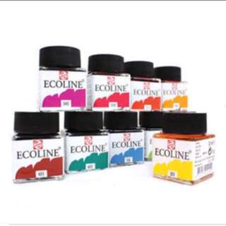Ecoline watercolor liquid bottle round with dropper