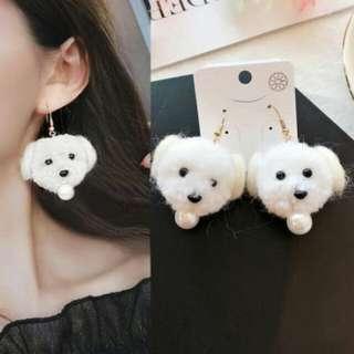 Puppy Face Pearl earrings