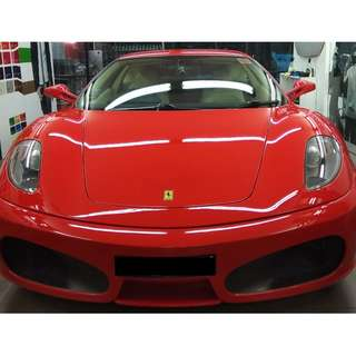 FERRARI  GLASS COATING @ CAR SERVICE