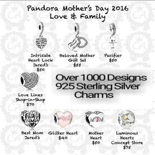 Over 1000 Designs (925 Sterling Silver Charms) To Choose From, Compatible With Pandora, T06