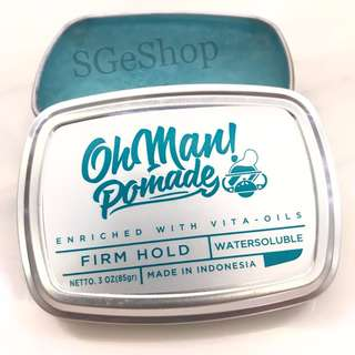 Oh Man Pomade - Nutri Blue - Waterbased