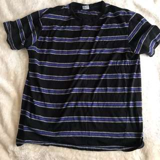 Striped Black and Blue Tee
