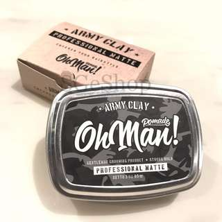 Oh Man Pomade - Army Clay - Professional Matte