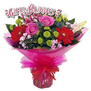 Fresh Flower Bouquet Surprise for Special Anniversary Birthday Gift V23 - KNLEC